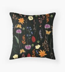 Dark Summer Floral Pattern Floor Pillow