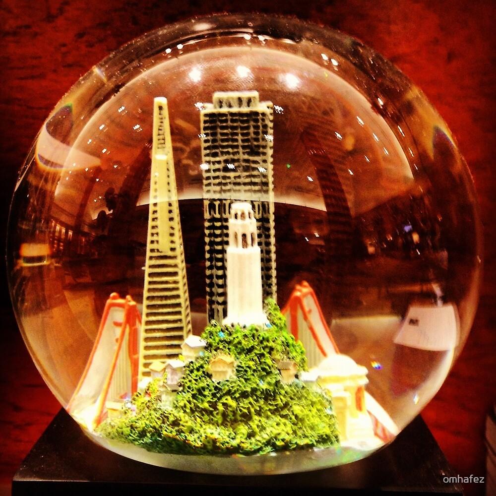 SF in a globe by omhafez