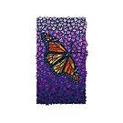 Beautiful Monarch Butterfly on Pretty Purple Flowers by CandyMedusa