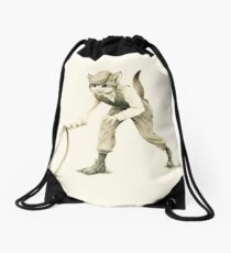 Victorian Cat Series 02 Drawstring Bag