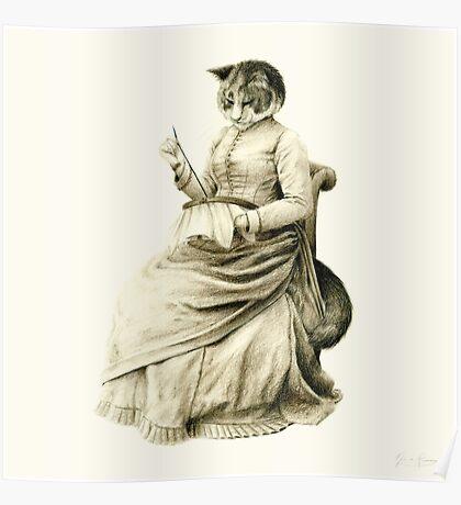 Victorian Cat Series 05 Poster