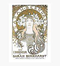 Lámina fotográfica Alphonse Mucha Sarah Bernhardt