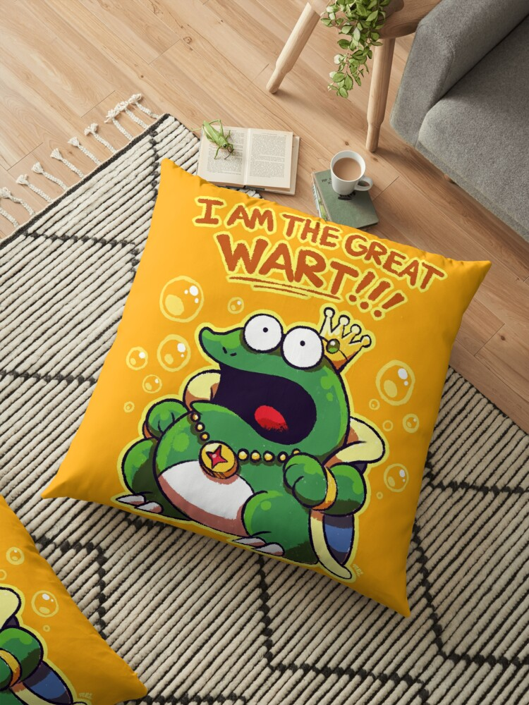 'I Am The Great Wart! {Super Mario Bros  2}' Floor Pillow by Mast3r-Rainb0w