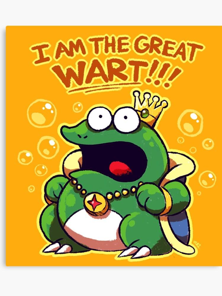 I Am The Great Wart! {Super Mario Bros  2}   Canvas Print