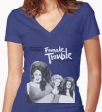 female trouble divine john waters Women's Fitted V-Neck T-Shirt