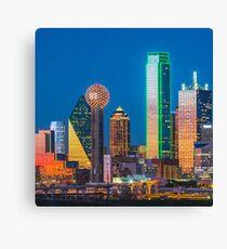 Dallas Skyline-bunte Sonnenuntergang-Reflexion Leinwanddruck
