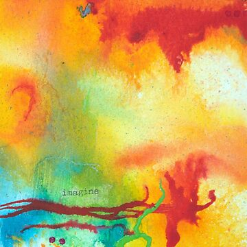 Imagine Affirmation - Bright abstract painting by KoreSage