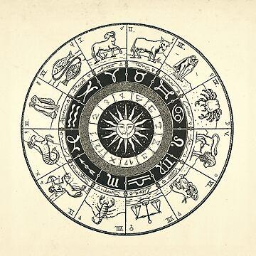 Vintage Zodiac & Astrology Chart  by DanJohnDesign