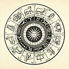 Vintage Zodiac & Astrology Chart  by Daniel Watts