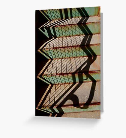 Geometric Shadows Greeting Card