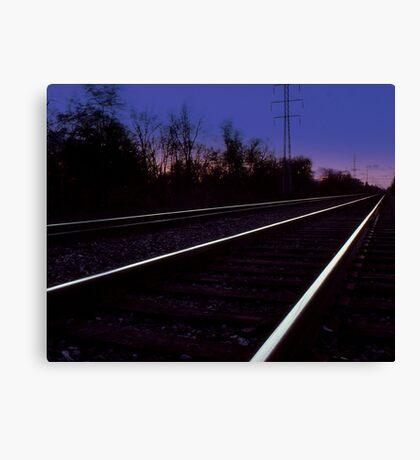 Walking on the Tracks Canvas Print
