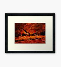 """The Firestorm-Wild Fires In The Bush"" Framed Print"