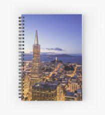 San Francisco Skyline at Night Spiral Notebook