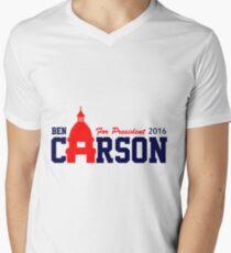 Camiseta de cuello en V Ben Carson para el presidente 2016