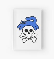 Cat And Skull And Crossbones Hardcover Journal