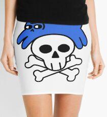 Cat And Skull And Crossbones Mini Skirt