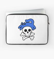 Cat And Skull And Crossbones Laptop Sleeve
