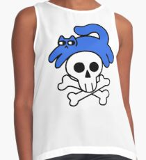 Cat And Skull And Crossbones Sleeveless Top