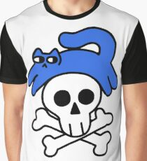 Cat And Skull And Crossbones Graphic T-Shirt