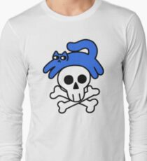 Cat And Skull And Crossbones Long Sleeve T-Shirt