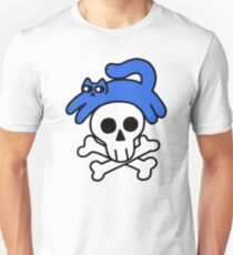 Cat And Skull And Crossbones Slim Fit T-Shirt