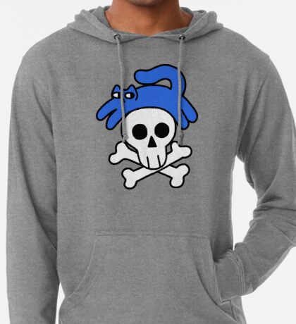 Cat And Skull And Crossbones Lightweight Hoodie