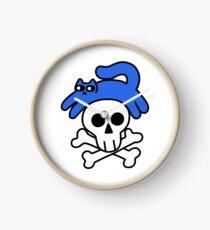 Cat And Skull And Crossbones Clock