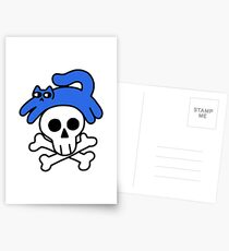 Cat And Skull And Crossbones Postcards