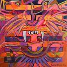 Hexagram 21-Shih Ho (Biting Through) by Denise Weaver Ross