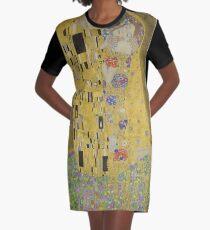 Gustav Klimt The Kiss Graphic T-Shirt Dress