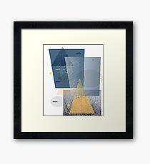 trees and triangles Framed Art Print