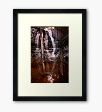 """Lilydale Falls, bottom"" Framed Print"