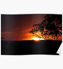 Hügels Sonnenuntergang Poster