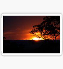 Hügels Sonnenuntergang Sticker