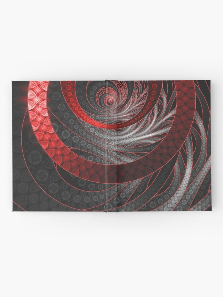 Alternate view of Corded Crimson Scales in the Eye of the Vampire Hardcover Journal