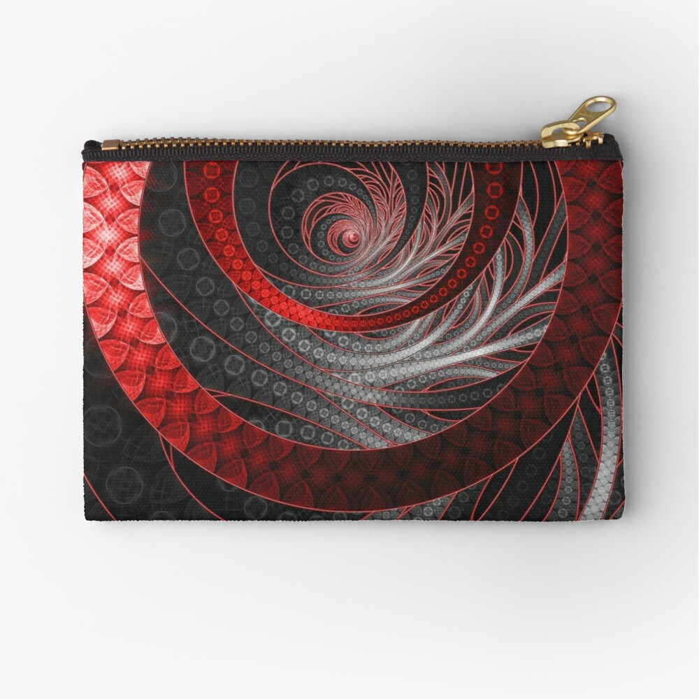Corded Crimson Scales in the Eye of the Vampire Zipper Pouch