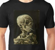 Vincent Van Gogh smoking skeleton Unisex T-Shirt