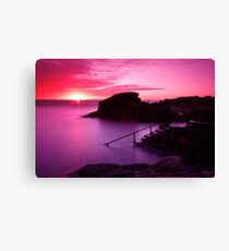 Sunrise at the Forty Foot, Co. Dublin Canvas Print
