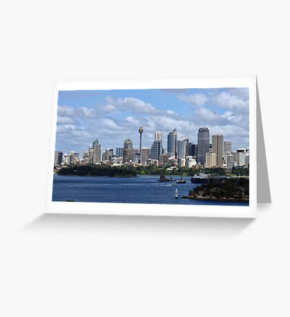 Sydney Harbour from Taronga Zoo Greeting Card
