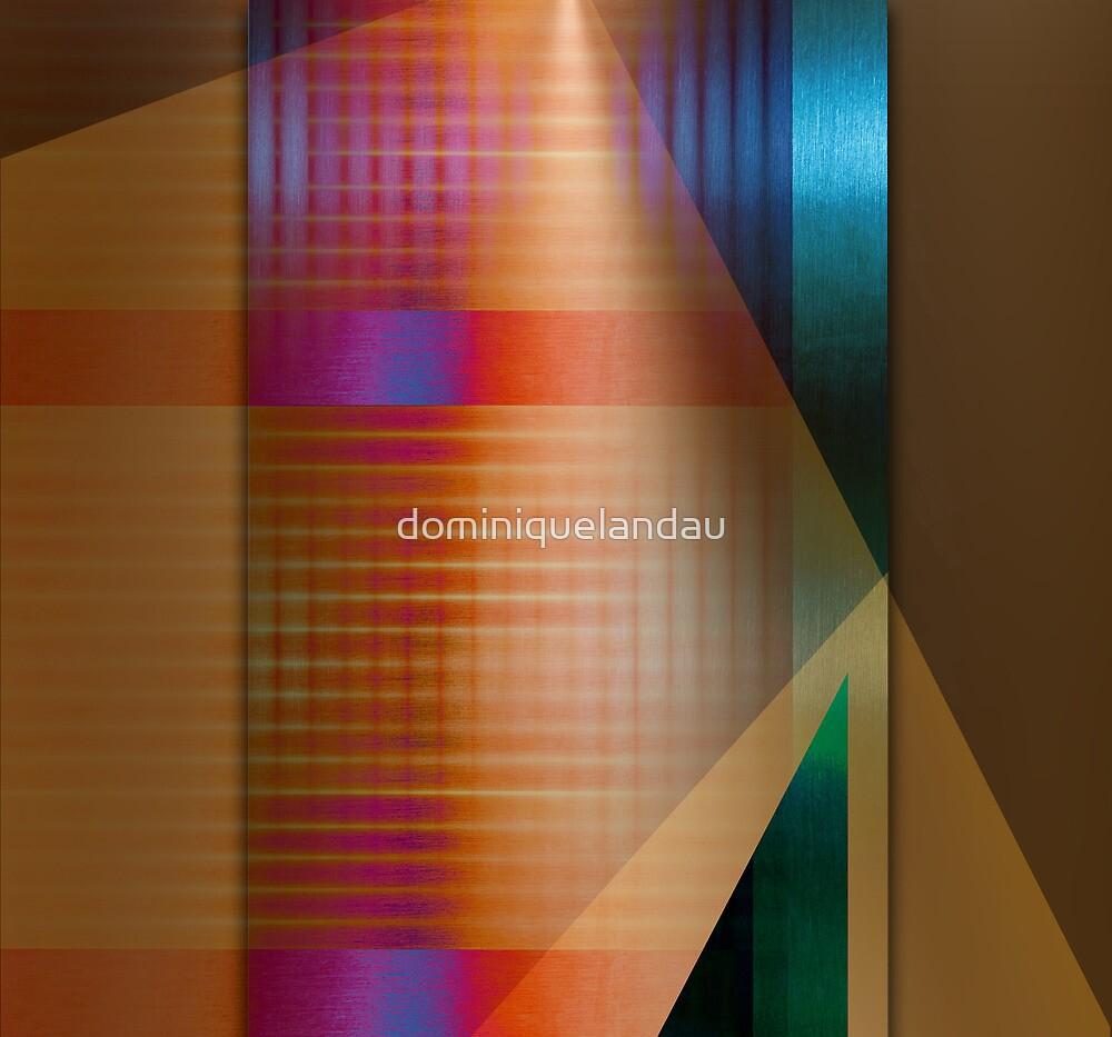 Multicolored abstract by dominiquelandau