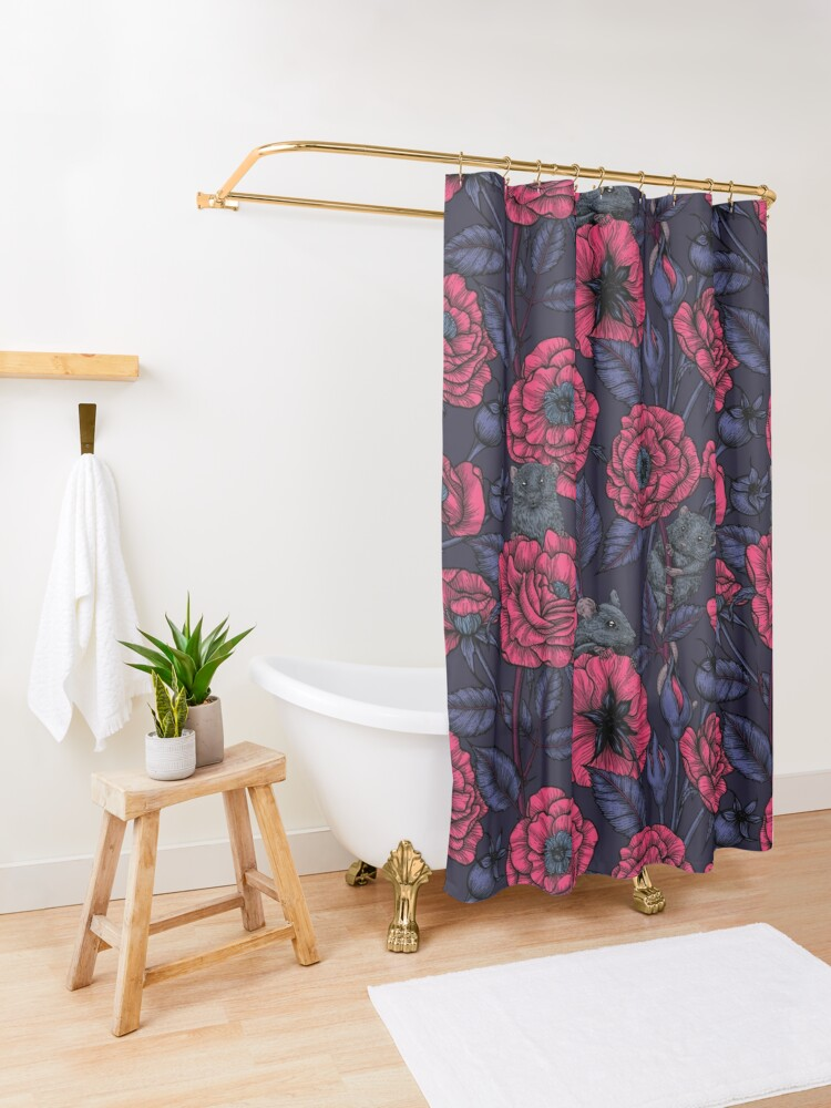 Alternate view of The mice party Shower Curtain