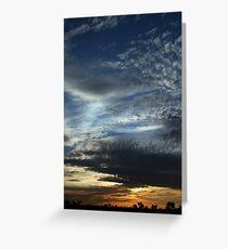 Port Hedland Sky Greeting Card