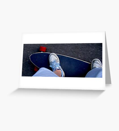 Longboarding Greeting Card