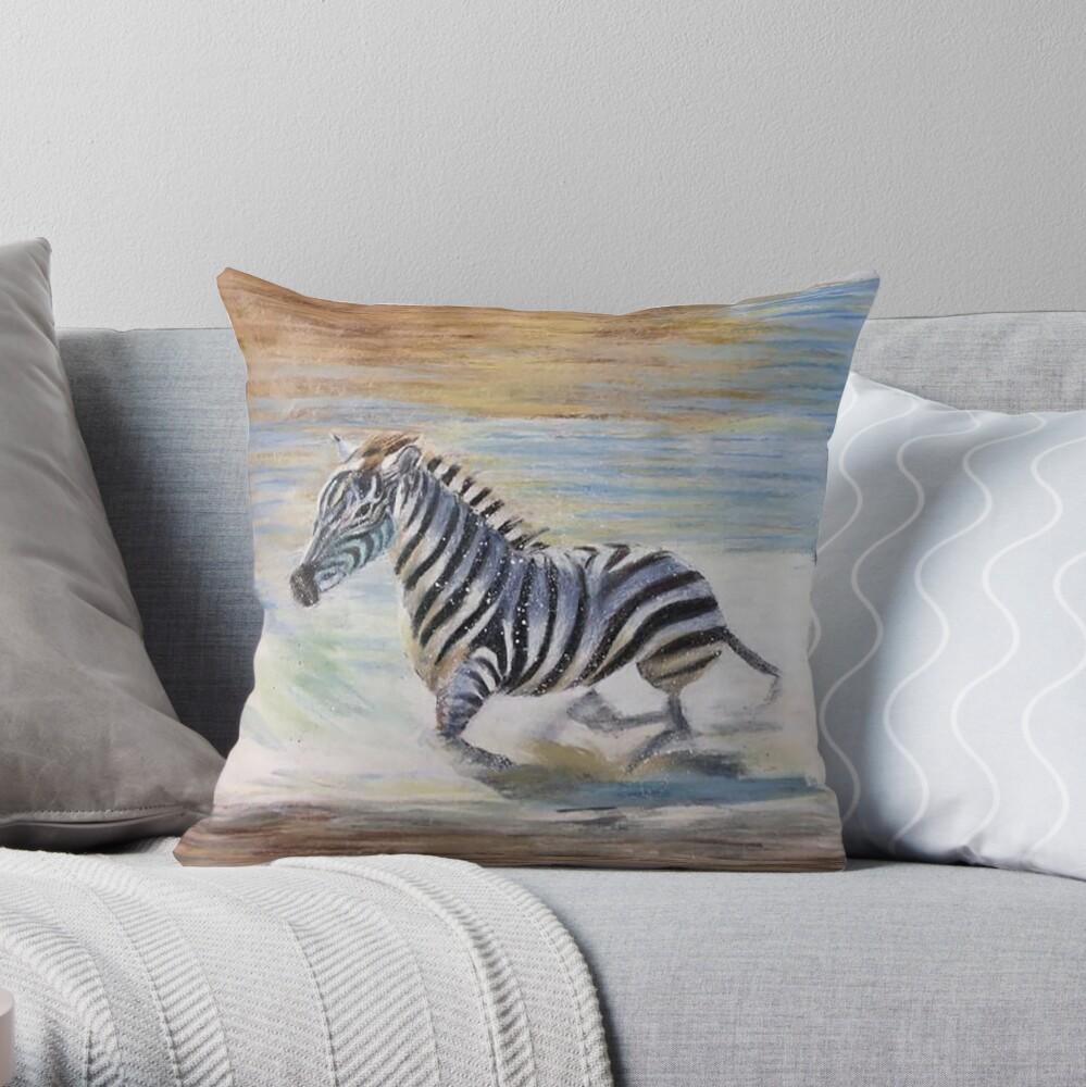 Running Wild Throw Pillow