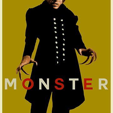 Monstruo (Max Schreck - Nosferatu) Amarillo de SUCHDESIGN