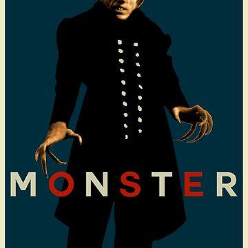 Monstruo (Max Schreck - Nosferatu) Azul de SUCHDESIGN