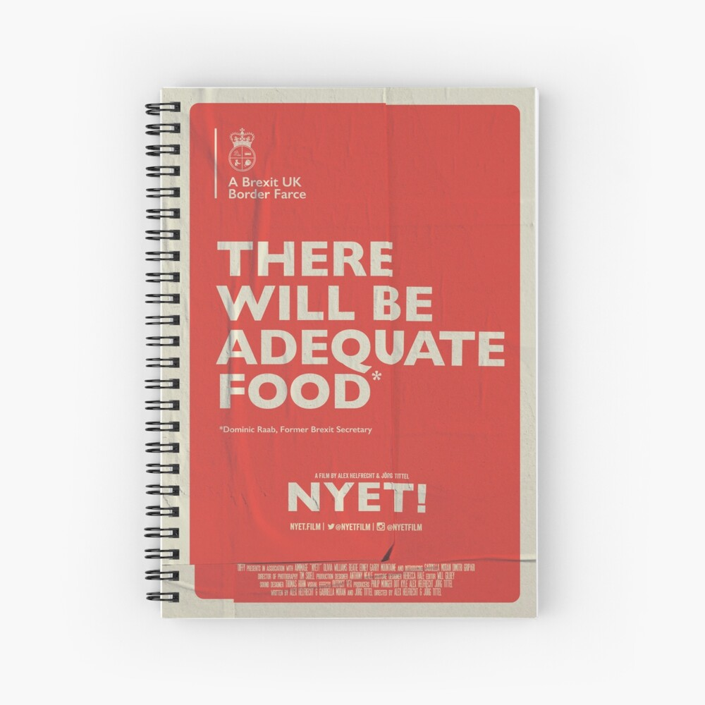 Adequate Food Notebook Spiral Notebook