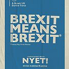 Brexit Notebook  by NYET! - a Brexit UK Border Farce
