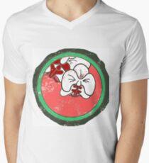 Cartoon orchid kawaii Men's V-Neck T-Shirt