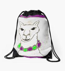 Beautiful llama cartoon kawaii Drawstring Bag